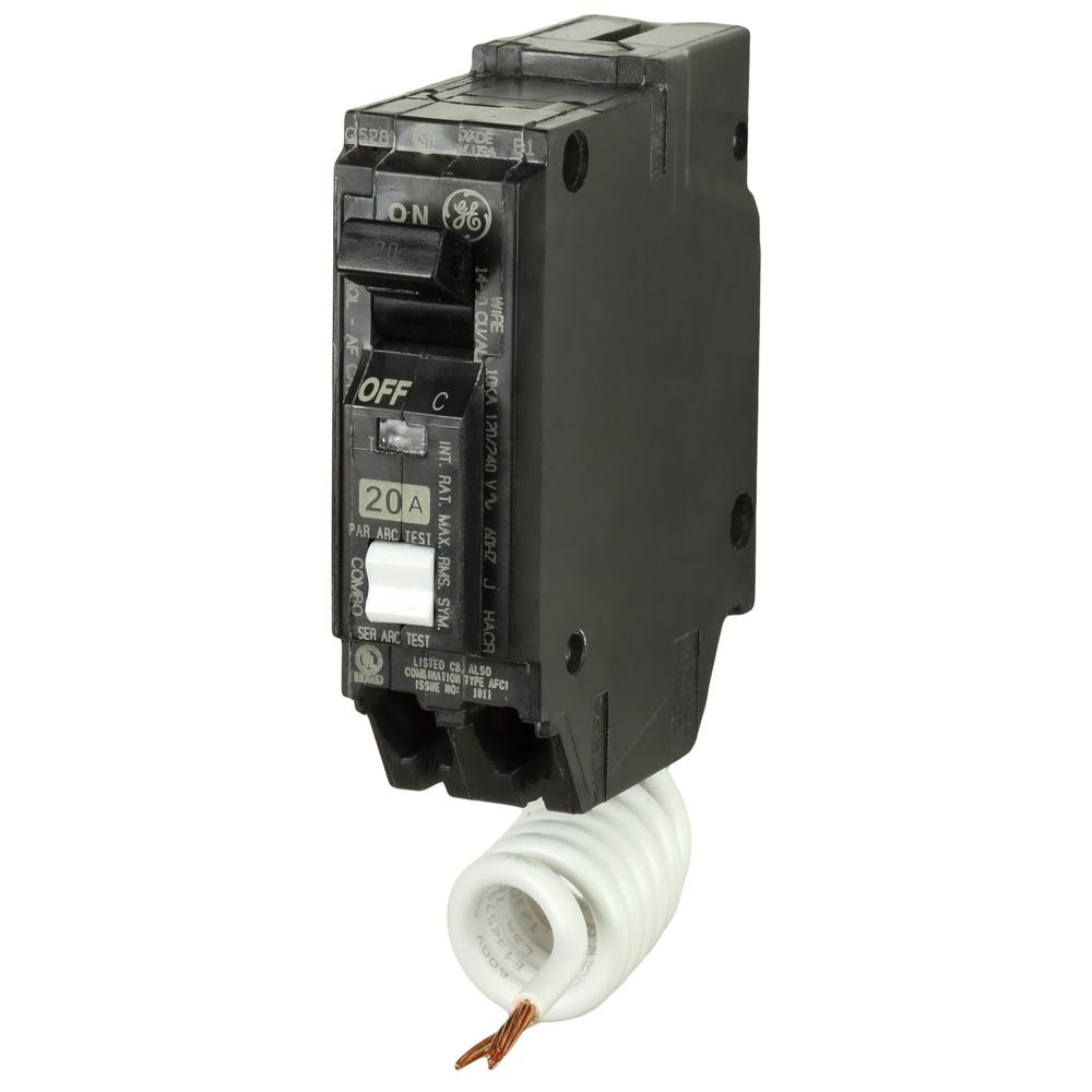 medium resolution of ge q line 20 amp 1 in single pole arc fault combination circuit ground fault receptacle wiring single pole switch and a a
