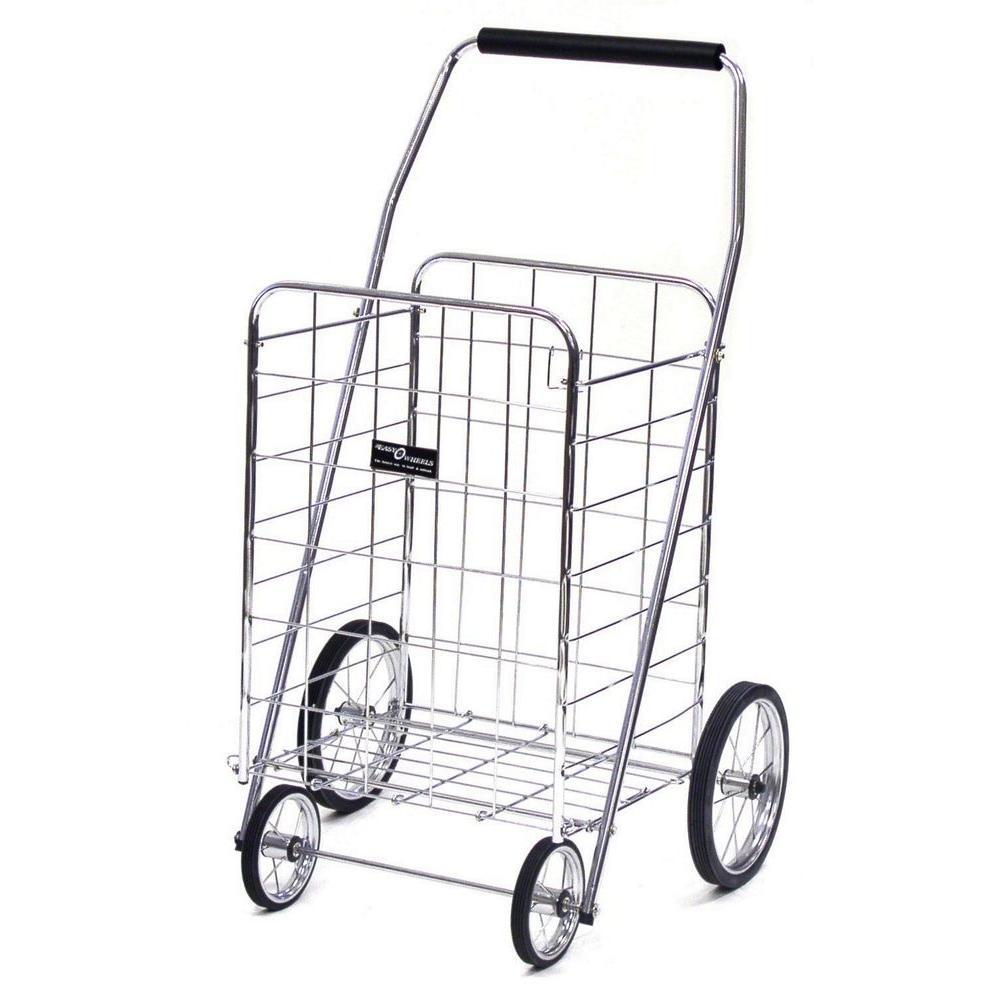 Easy Wheels Jumbo Shopping Cart in Elite Chrome-001CH