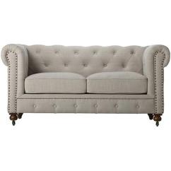 Home Decorators Tufted Sofa Leather Sleeper Sofas For Sale Collection Gordon Natural Linen Loveseat 0849500400