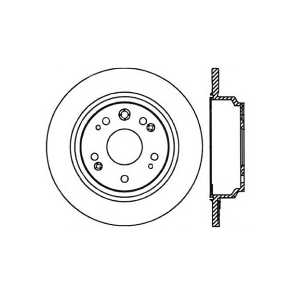 Centric Parts Disc Brake Rotor 2002-2004 Acura RL-121