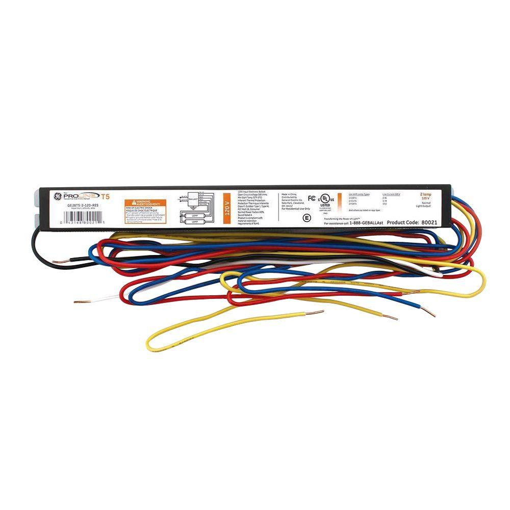 hight resolution of ge 3 ft and 4 ft 2 lamp t5 120 volt residential ge ballast wiring diagram ge high pressure sodium ballast wiring diagram