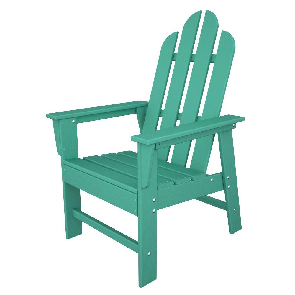 adirondack style dining chairs black metal and wood polywood long island aruba all weather plastic outdoor chair