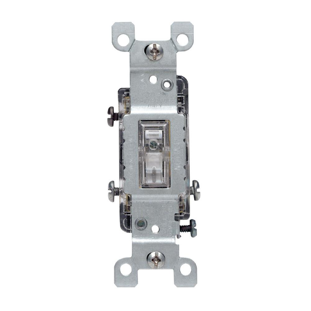 hight resolution of leviton 15 amp 3 way toggle light switch clear