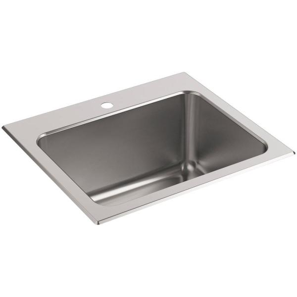 Kohler Ballad 22 In. X 25 Stainless Steel 4-hole Utility Sink-5798-4-na - Home Depot