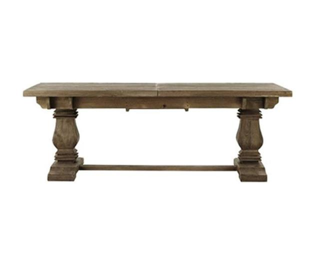 Home Decorators Collection Aldridge Antique Grey Extendable Dining Table Nb023ag The Home Depot