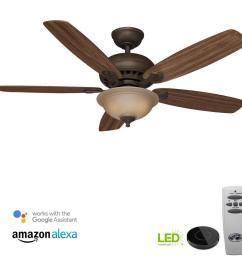 hampton bay wellston 44 in led indoor oil rubbed bronze ceiling fan rh homedepot com hunter fan switch wiring diagram hunter 52 inch ceiling fan wiring  [ 1000 x 1000 Pixel ]
