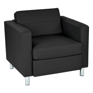 dillon chair 1 2 glider recliner nursery ave six pacific black faux leather arm pac51 v18 the home depot vinyl fabric