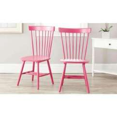 Pink Dining Room Chairs Patio Lounge Clearance Safavieh Kitchen Furniture Riley Wood Chair Set Of 2