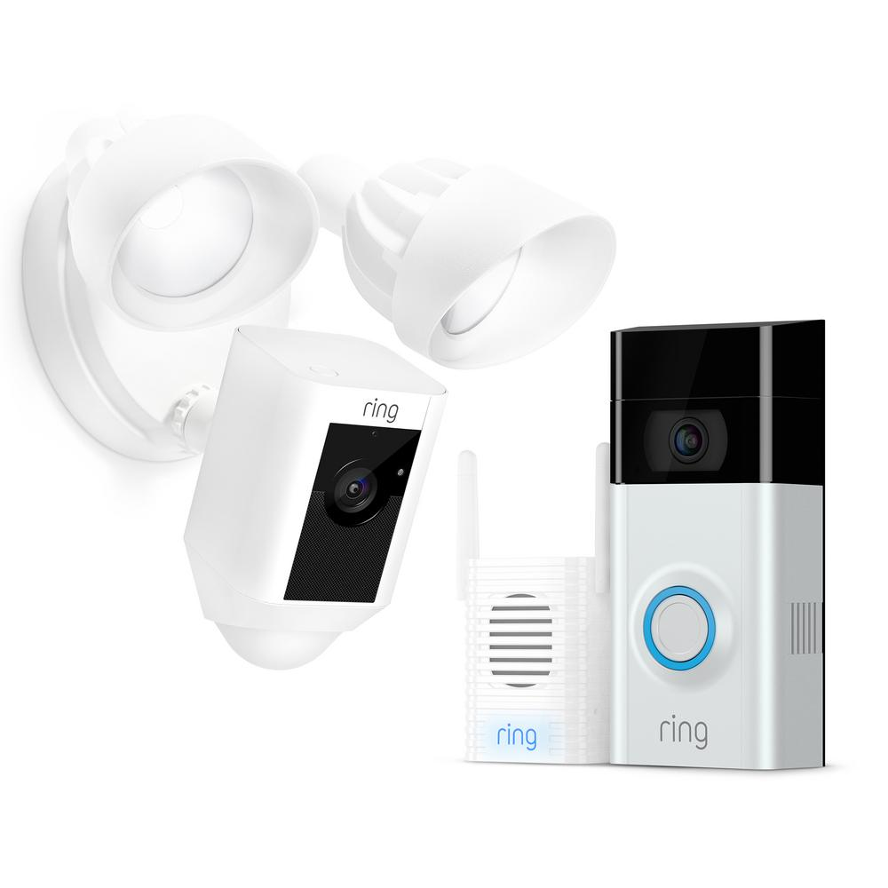 ring doorbell for sale 7 pin flat caravan plug wiring diagram wireless video 2 with chime pro and floodlight cam white
