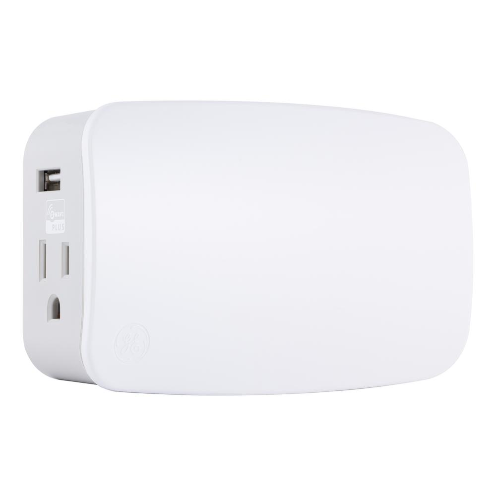 hight resolution of z wave plus plug in smart switch dual outlets with usb charging