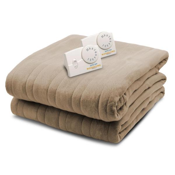 Biddeford Blankets 1004 Series Comfort Knit Heated 100 In