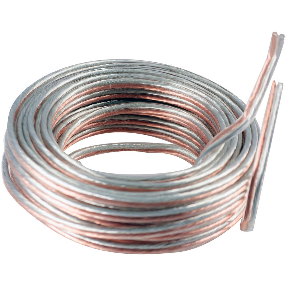 hight resolution of 14 gauge silver and copper speaker wire 34463 the home depot