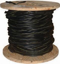 2 7 black stranded al poly triplex service drop cable 55411602 the home depot [ 1000 x 1000 Pixel ]