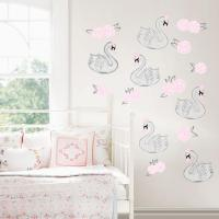 Pink Swan Song Wall Decal-DWPK2706 - The Home Depot
