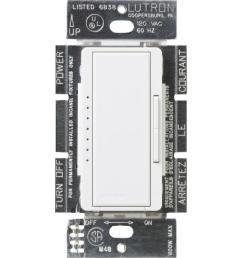 lutron maestro 600 watt multi location electronic low voltage digital dimmer white [ 1000 x 1000 Pixel ]