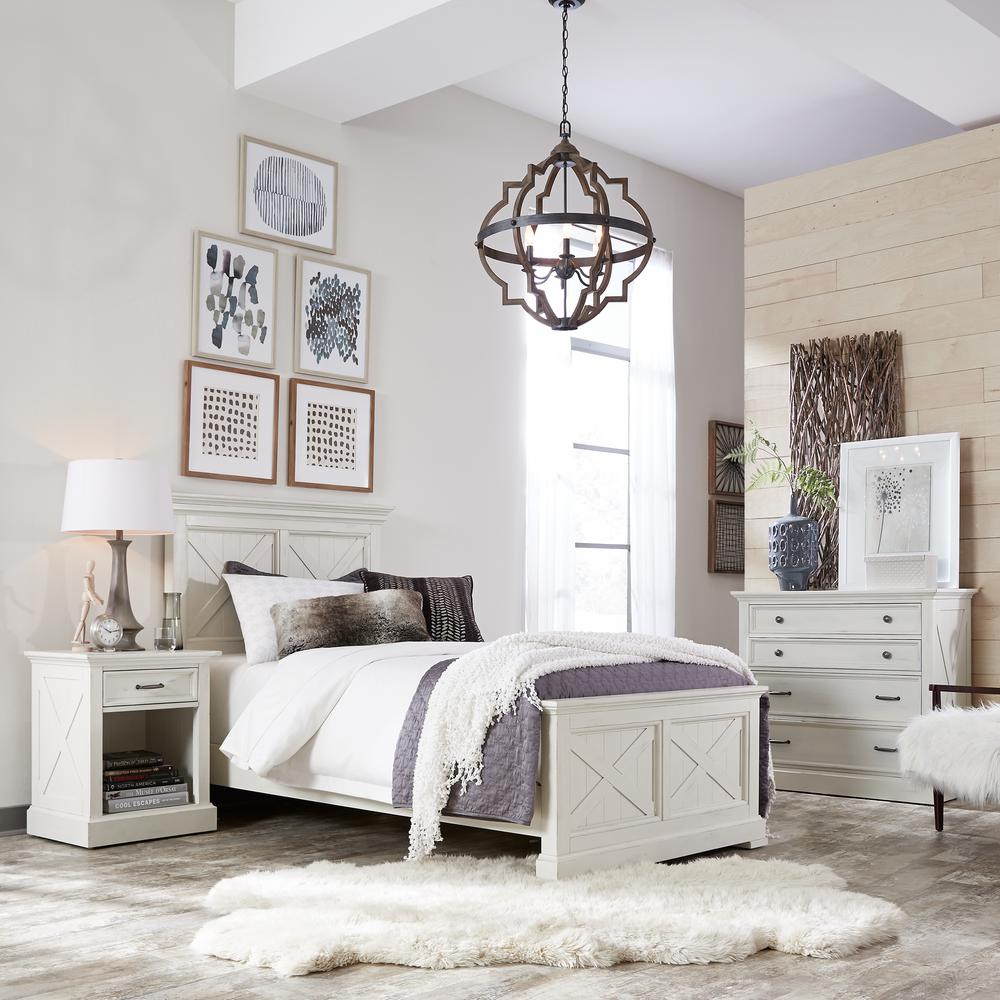 homestyles seaside lodge 3 piece hand rubbed white king bedroom set 5523 6021 the home depot