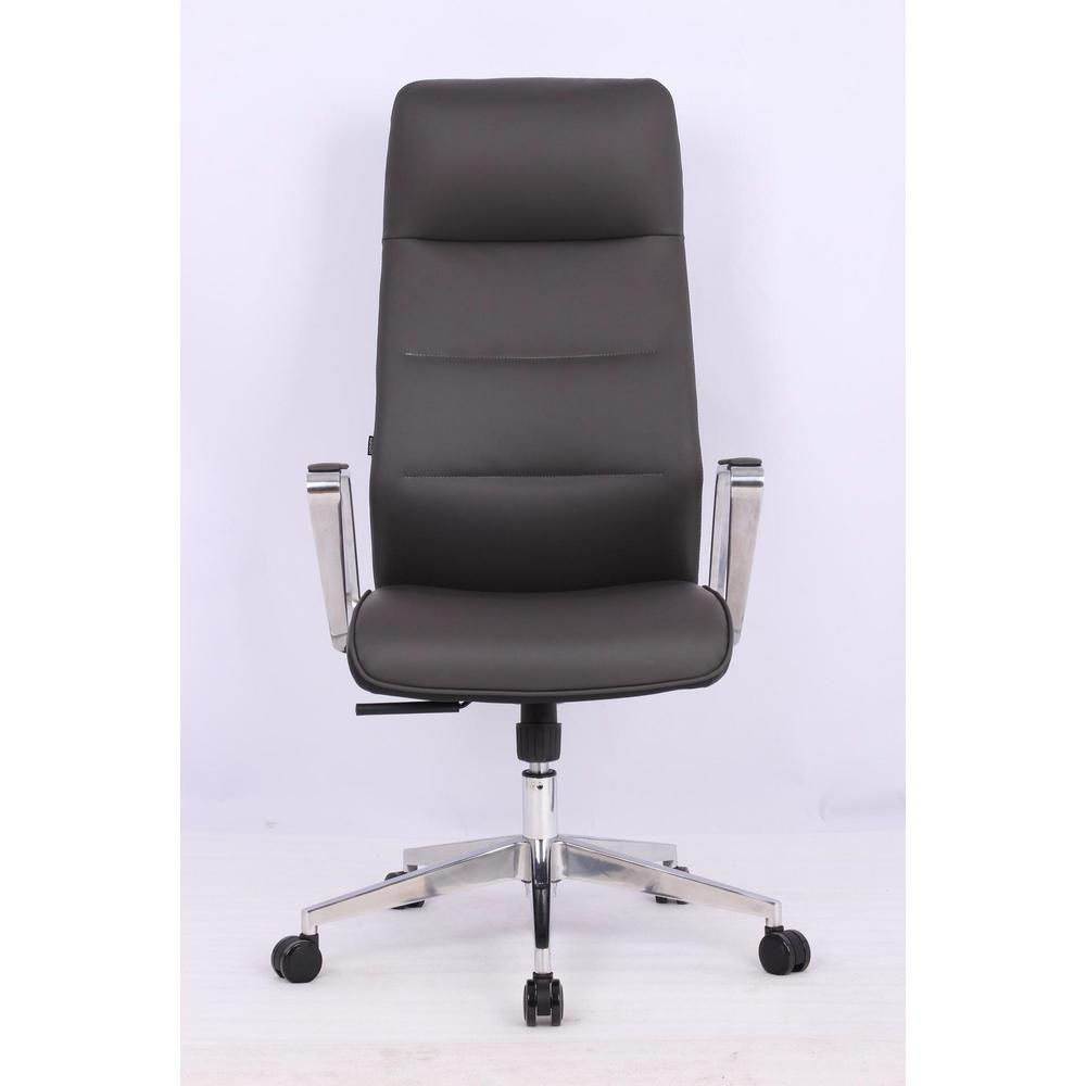 microfiber office chair black chairs without wheels tygerclaw high back pu tyfc220018 the home depot