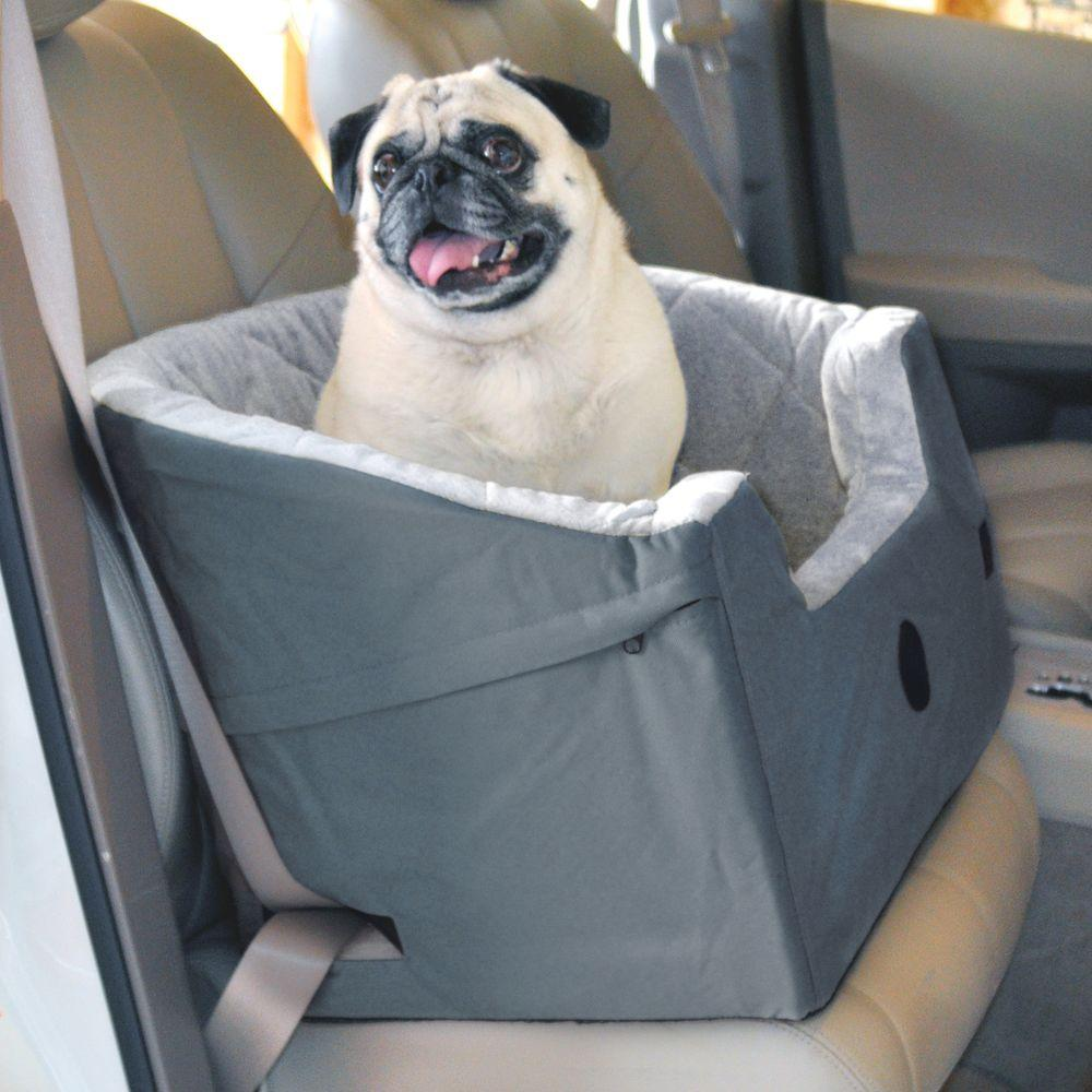 KampH Pet Products Bucket Booster Large Gray Pet Car Seat 7632 The Home Depot