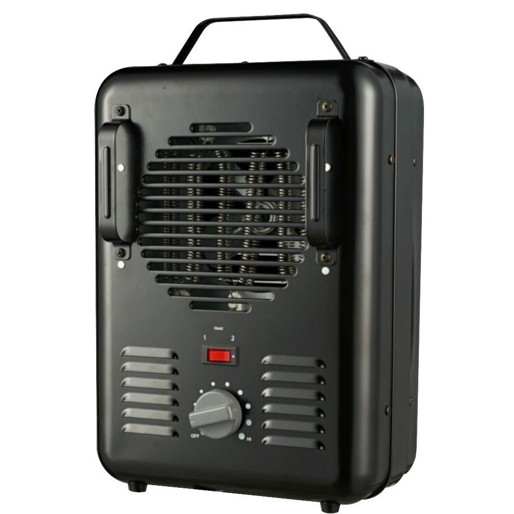 medium resolution of 1500 watt milkhouse utility electric portable heater with thermostat black