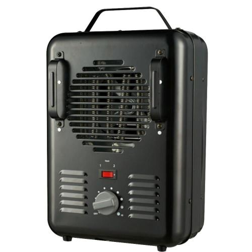 small resolution of 1500 watt milkhouse utility electric portable heater with thermostat black