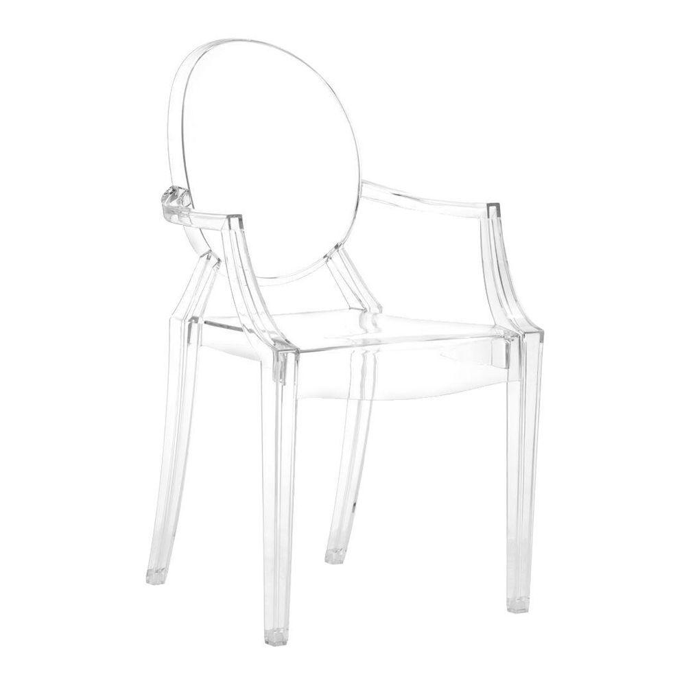 Plastic Clear Chair Anime Transparent Acrylic Dining Chair Set Of 4