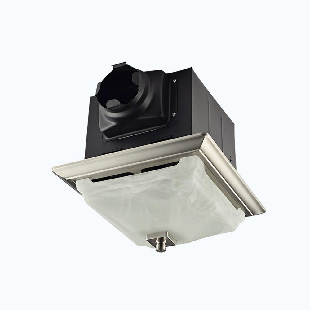 kitchen ceiling exhaust fan chicken decor lift bridge bath decorative brushed nickel 110 cfm with light and