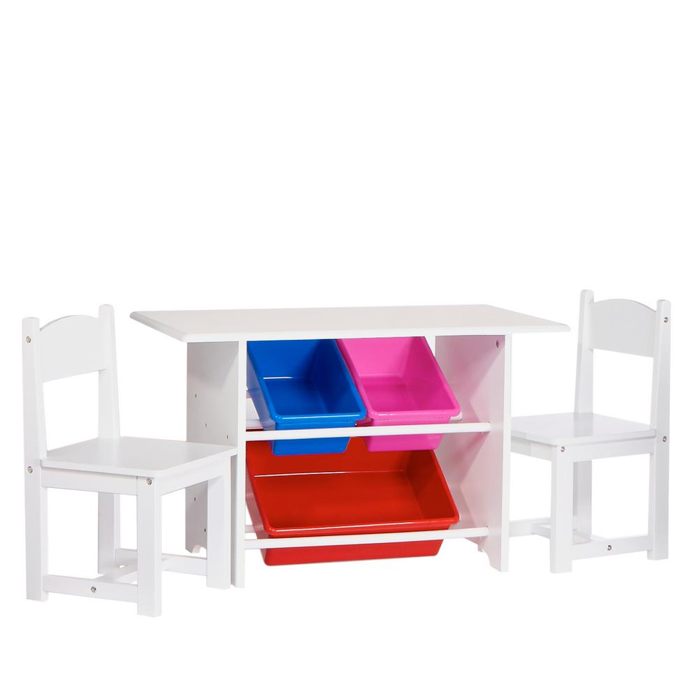 Activity Chair 6 Piece White Children S Table And Chair Set