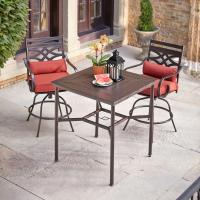 Hampton Bay Middletown 3-Piece Motion High Patio Dining ...