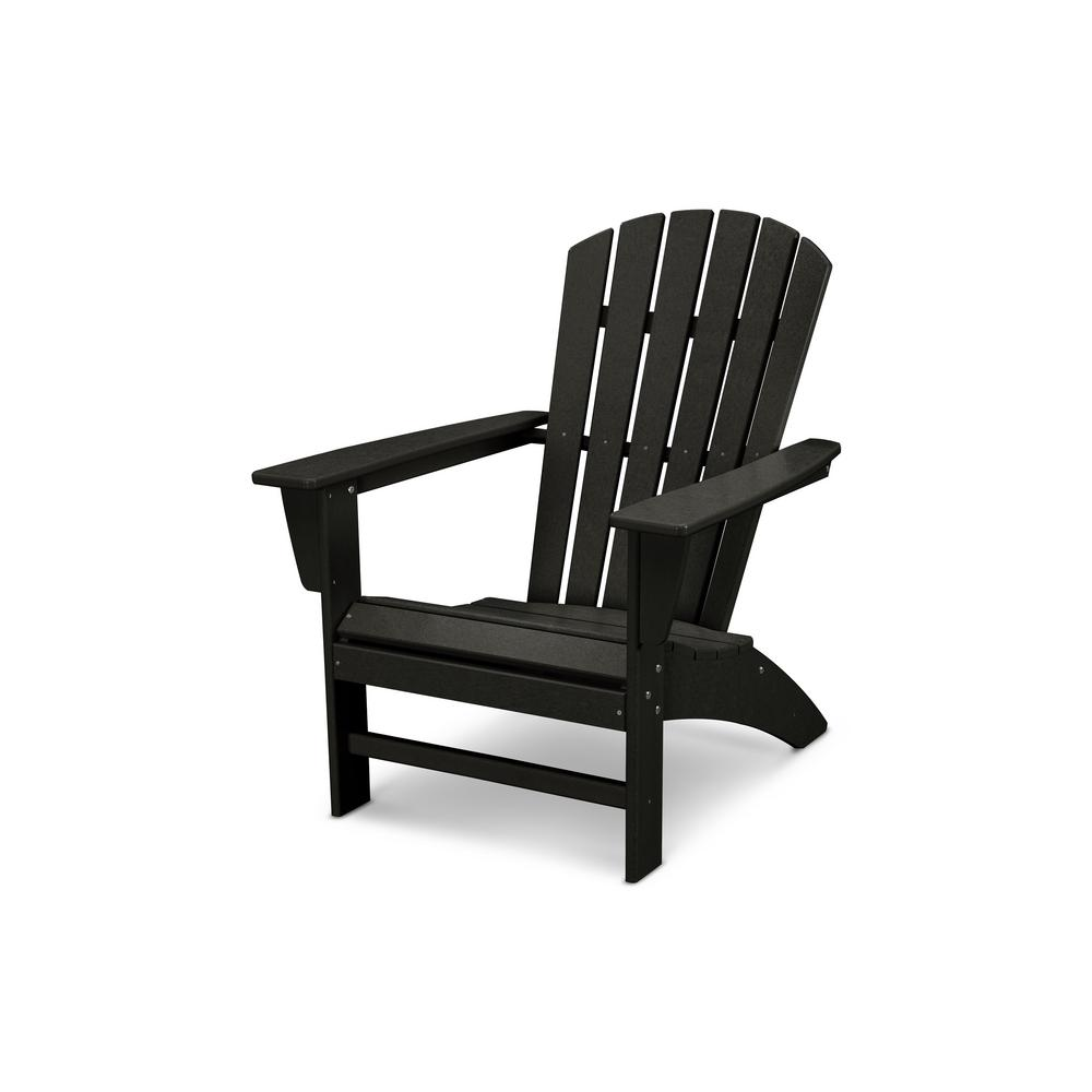 adirondack chair wood counter height high curveback black plastic outdoor patio lumber armchair seat