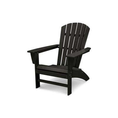 black patio chairs w h gunlocke chair co furniture the home depot traditional curveback plastic outdoor adirondack