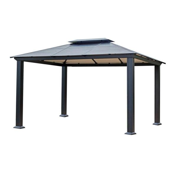 Stc 10 Ft. X 13 Santa Monica Gazebo-gz3 - Home Depot