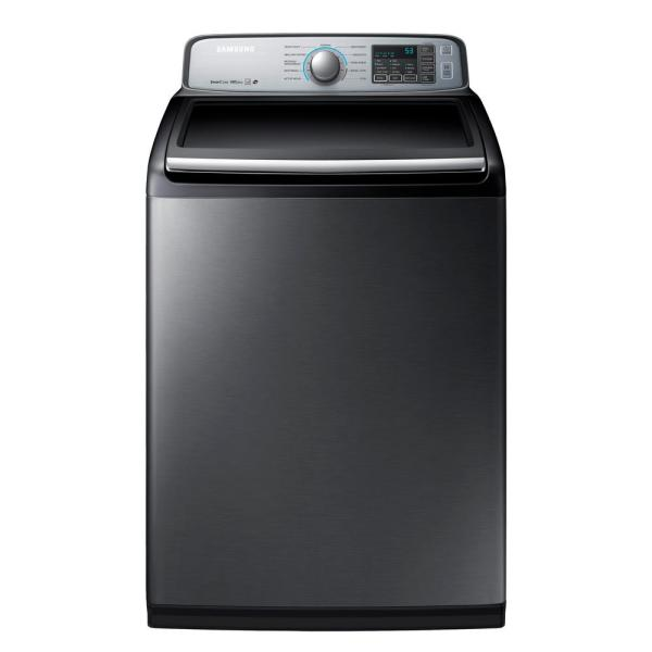 Samsung 5.0 Cu. Ft. High-efficiency Top Load Washer In Platinum Energy Star-wa50m7450ap