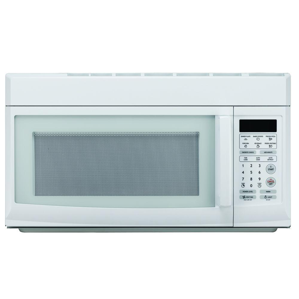 hight resolution of magic chef 1 6 cu ft over the range microwave in white