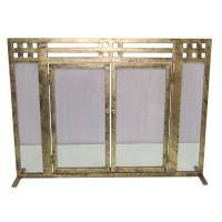Layton Antique Gold Single-Panel Fireplace Screen-DS-21021 ...