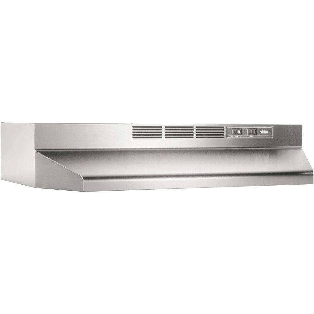 medium resolution of broan 41000 series 24 in ductless under cabinet range hood with light in stainless steel