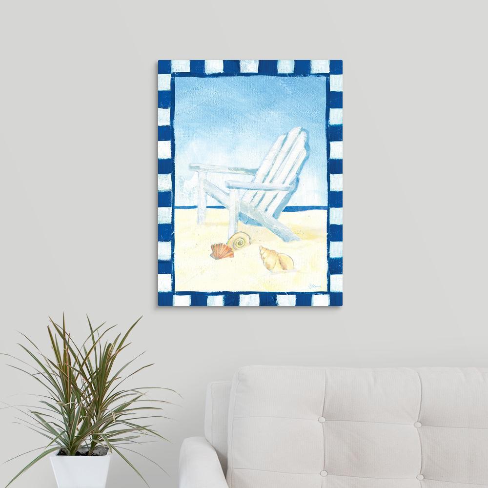 canvas beach chair futon bed greatbigcanvas print by flavia weedn wall art