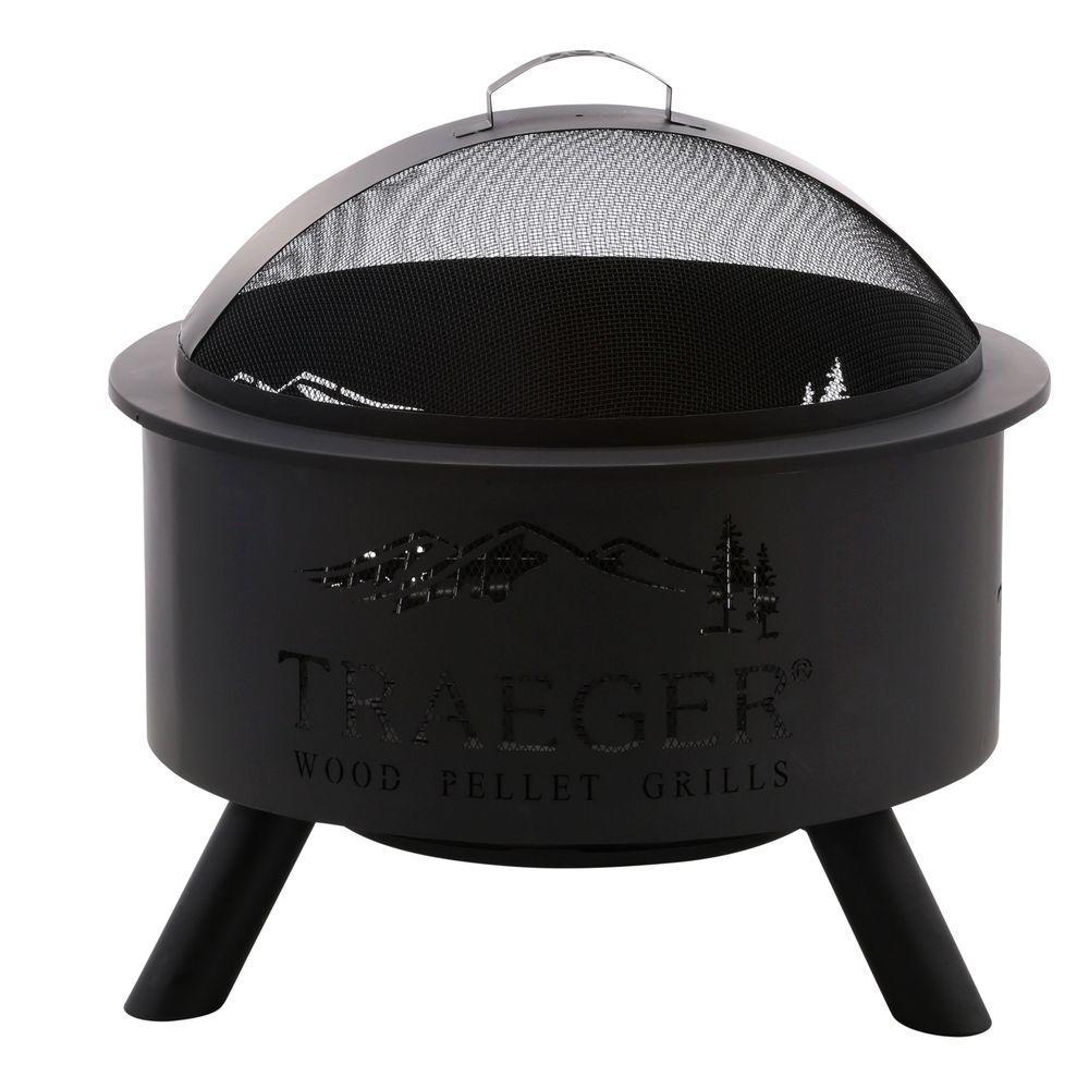 medium resolution of traeger 27 5 in steel outdoor fire pit