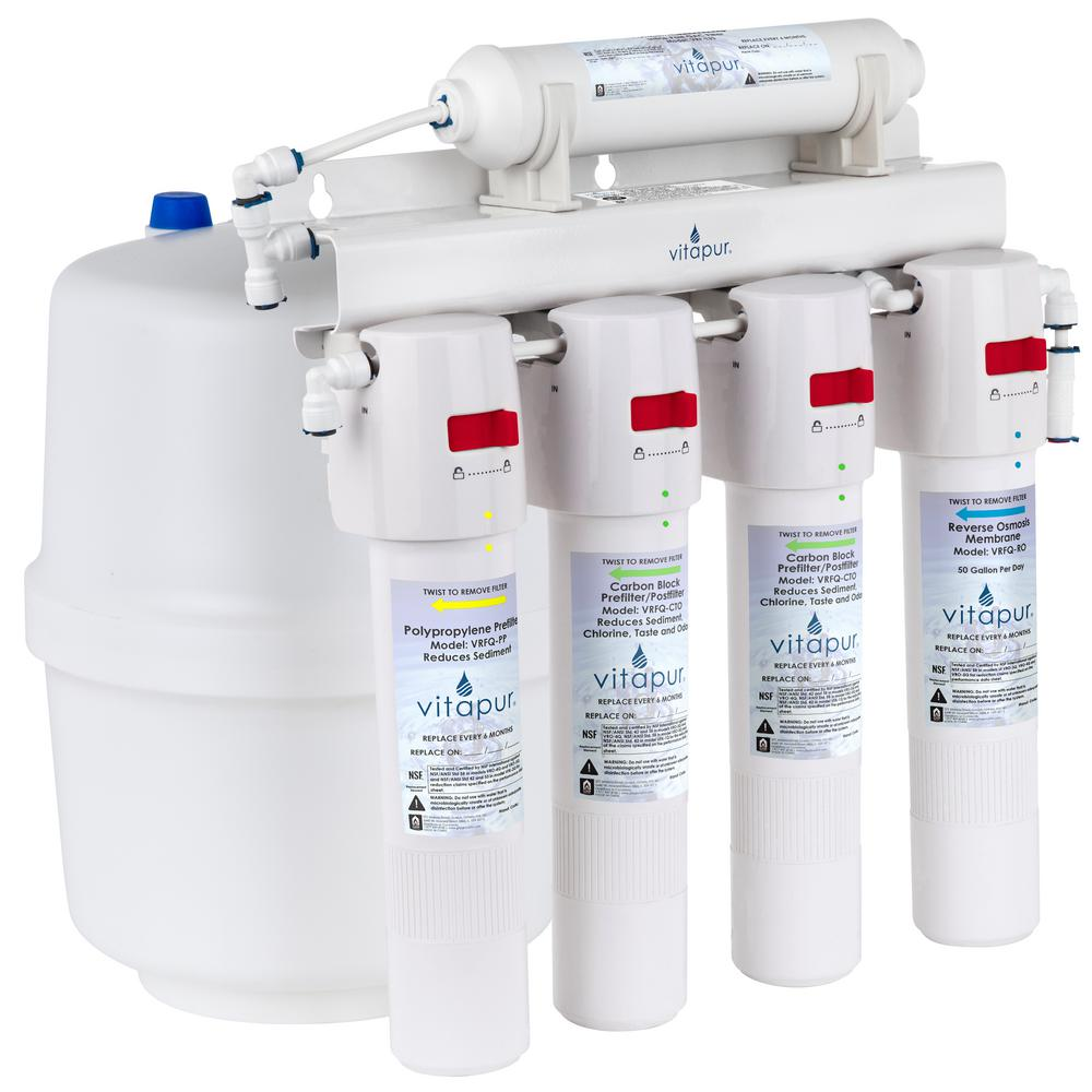 hight resolution of vitapur five stage 23 3 gpd quick connect reverse osmosis treatment system