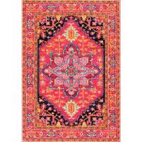 nuLOOM Fancy Persian Vonda Pink 4 ft. x 6 ft. Area Rug ...