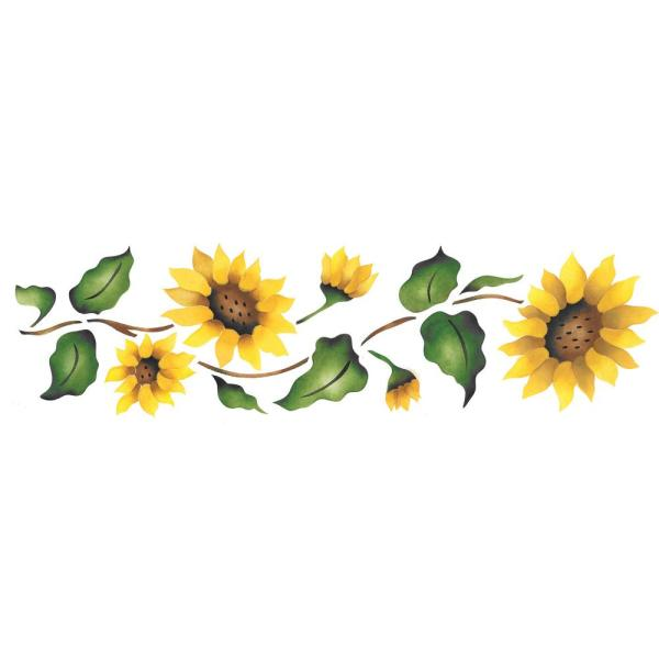 designer stencils sunflower border