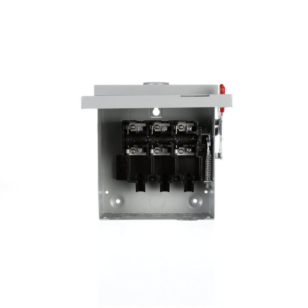 hight resolution of siemens general duty 30 amp 120 volt 240 watt non fused safety rh homedepot com nema 4 box electrical fuse box