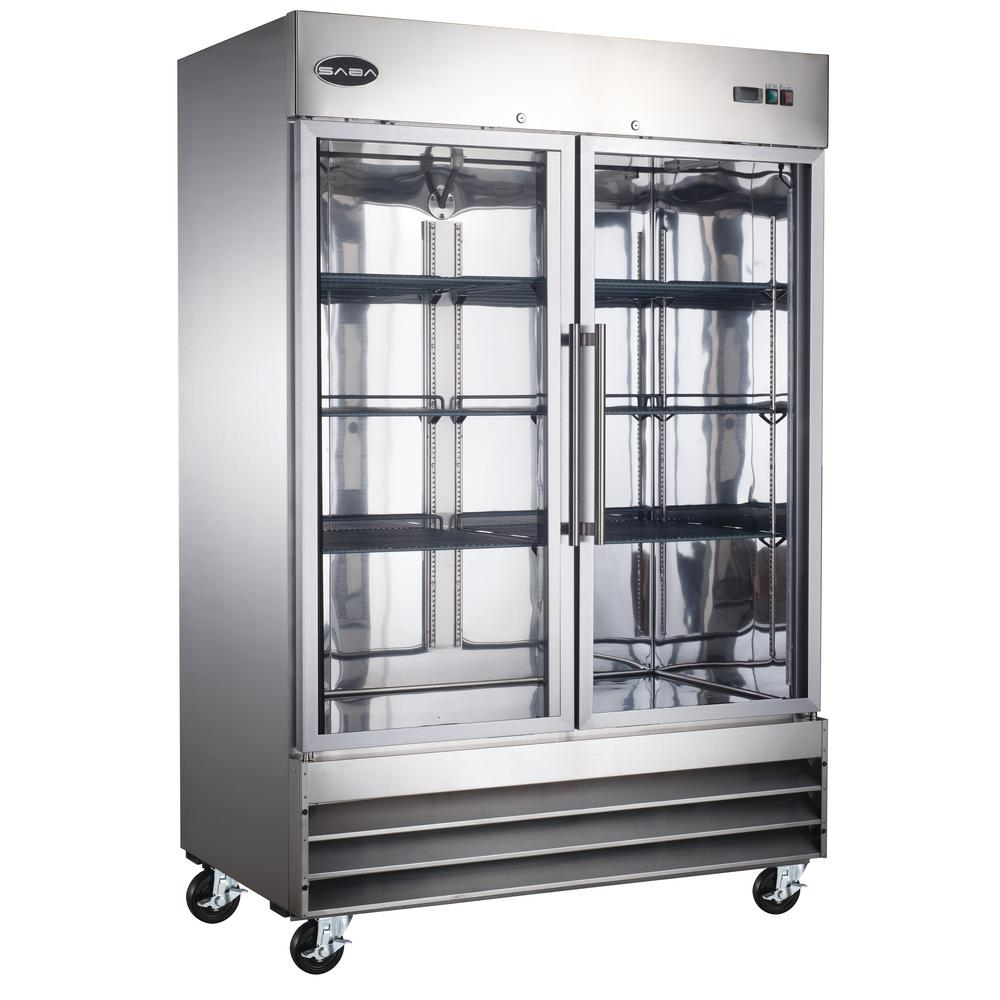 SABA 54 in W 47 cu ft Two Glass Door Commercial