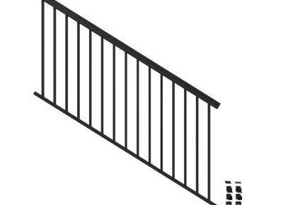 Aluminum Outdoor Handrails Deck Stairs The Home Depot   Outside Metal Railings For Steps   Galvanized Iron   Wrought Iron Staircase Used   Decorative Iron Stair Rail Support   Steel Railing   Mixed