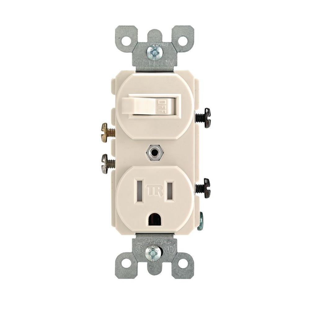 hight resolution of leviton 15 amp tamper resistant combination switch outlet light almond