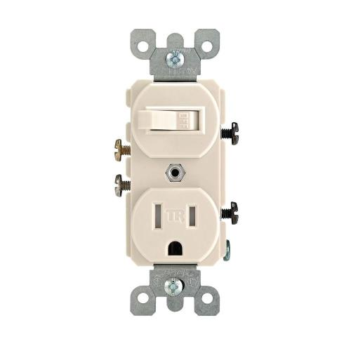 small resolution of leviton 15 amp tamper resistant combination switch outlet light almond