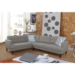 Tufted Linen Sectional Sofa Foster Elite 98 Leather Gray Set 2 Piece Sh5002b The Home Depot Internet 306028597