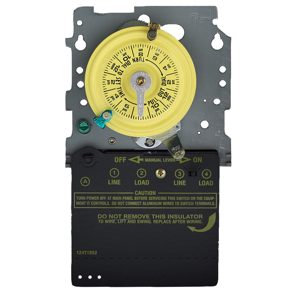 Woods 40 Amp 120volt Spst 24hour Outdoor Mechanical Time Switch