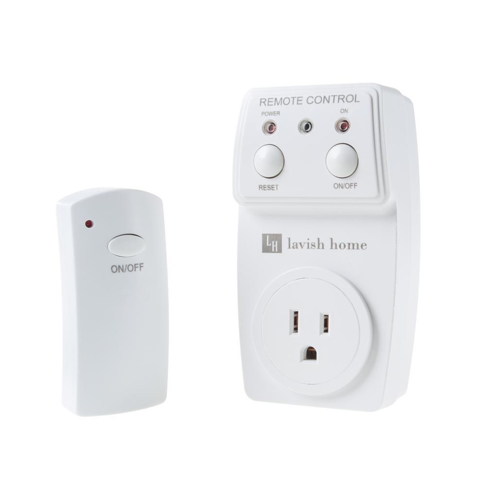 Lavish Home 12Volt Wireless Outlet Remote Control Kit