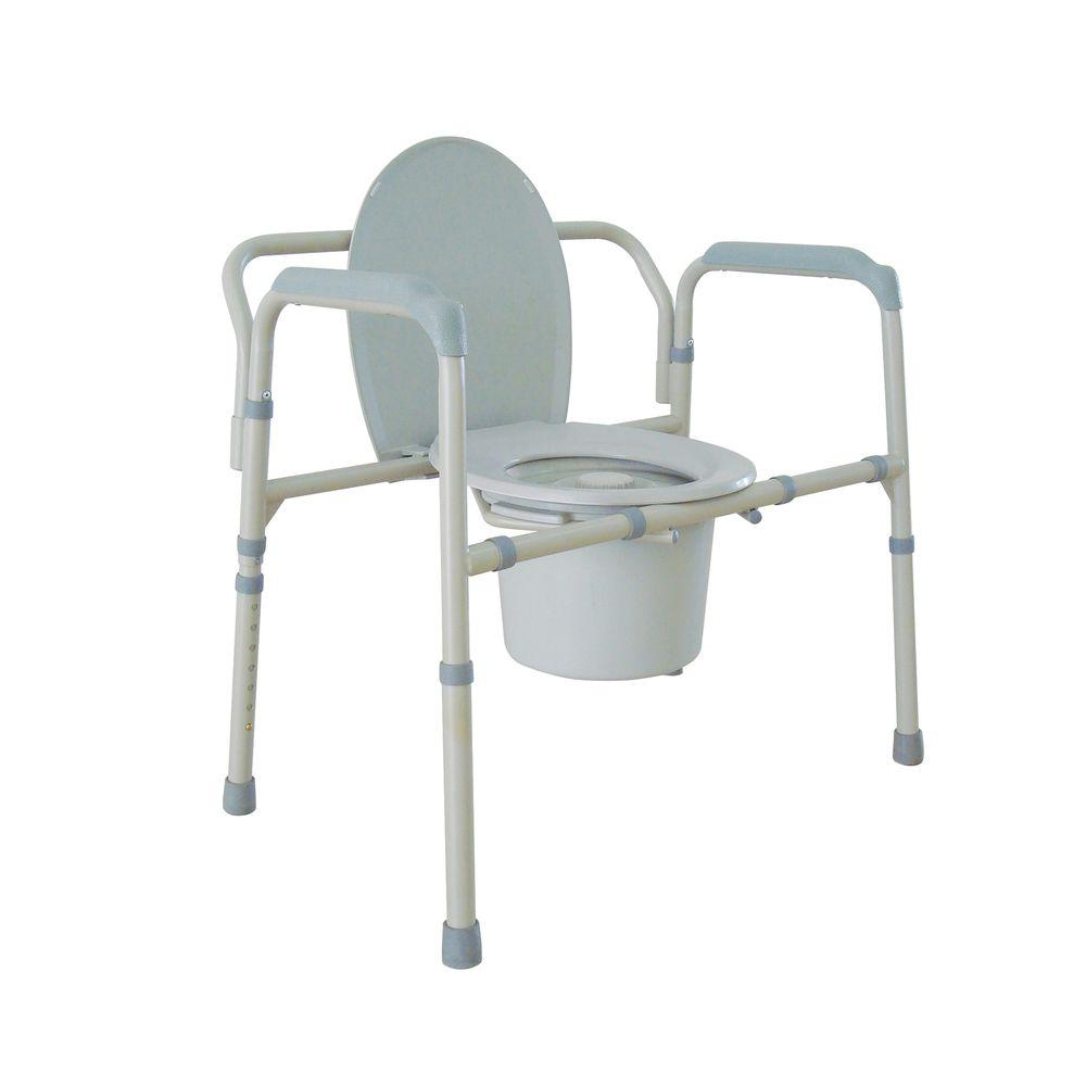 Bedside Commode Chair Drive Heavy Duty Bariatric Folding Bedside Commode Seat
