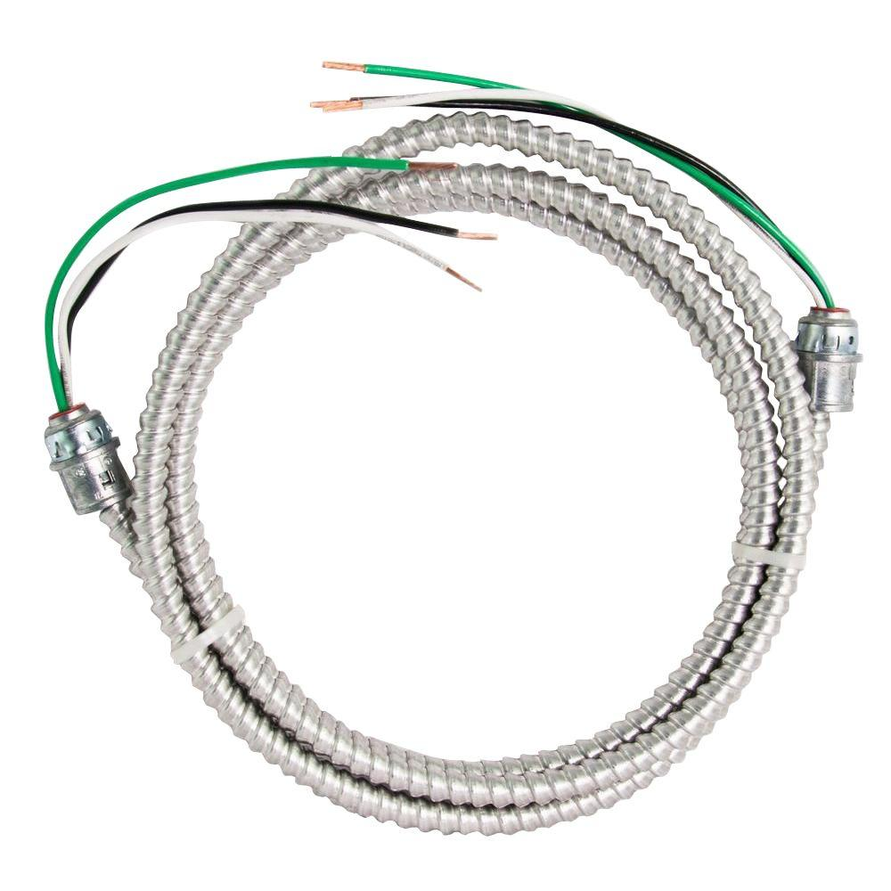 Southwire 8 ft. 12-2 Stranded CU MC Aluminum Whip-58947601